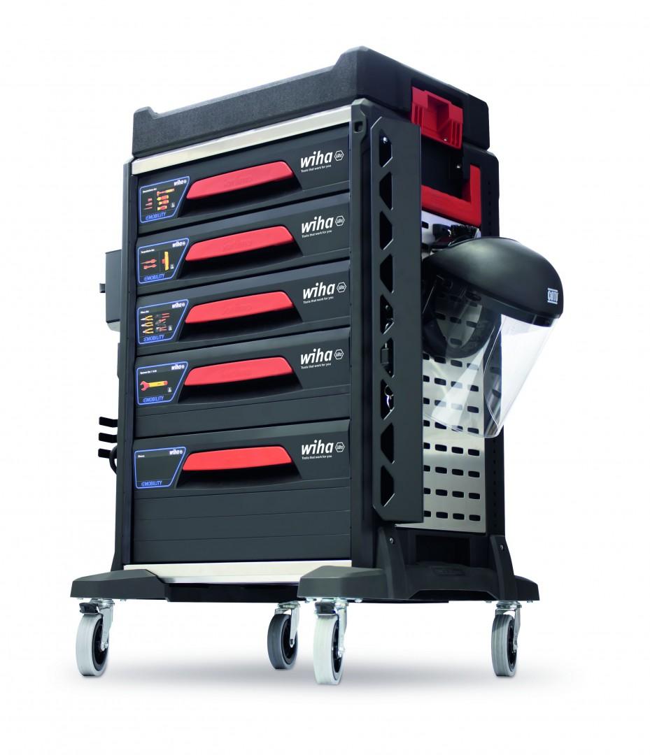 Wózek serwisowy samochodów elektrycznych eMobility 113 cz. WIHA (nr kat. 44423)