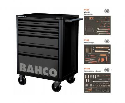 Wózek warsztatowy z wyposażeniem 214 cz. BAHCO (nr kat. 1472K6BKFF7SD)
