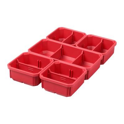 Wyjmowane pojemniki pasujące do organizera Slim PACKOUT™ dużego i średniego MILWAUKEE (nr kat. 4932478301)