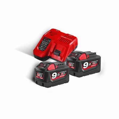 Zestaw akumulatorów M18 9,0Ah 2szt + ładowarka M18 NRG-902 MILWAUKEE (nr kat. 4933451422)