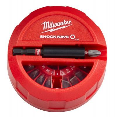 Zestaw bitów 32 szt. Shockwave Compact Cassette MILWAUKEE (nr kat. 4932464240)