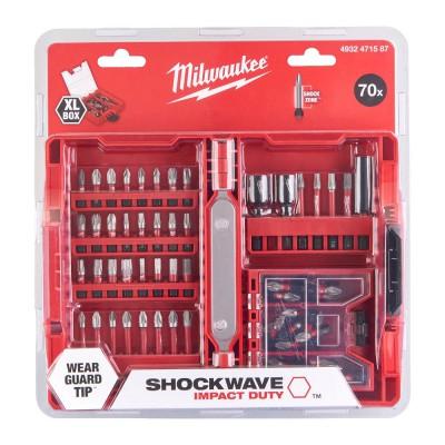 Zestaw bitów udarowych 70 szt. Shockwave Impact Duty™ MILWAUKEE (nr kat. 4932471587)
