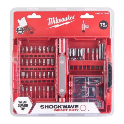 Zestaw bitów udarowych 75 szt. Shockwave Impact Duty™ MILWAUKEE (nr kat. 4932471588)
