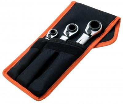 Zestaw kluczy oczkowych z grzechotką 4w1, 8-19 mm Dynamic-Drive Bahco (nr kat. S4RM/3T)
