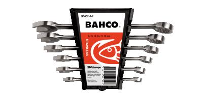 Zestaw kluczy płasko-oczkowych nierdzewnych 8-19 mm, 6 cz. Bahco (nr kat. SS002-6-2)