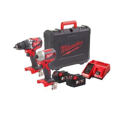 Zestaw narzędzi akumulatorowych M18 CBLPP2A-502C MILWAUKEE (nr kat. 4933478545)
