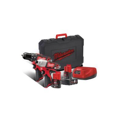 Zestaw narzędzi akumulatorowych POWERPACK M12 BPP2B-421C MILWAUKEE (nr kat. 4933443497)