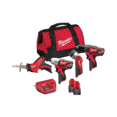 Zestaw narzędzi akumulatorowych POWERPACK M12 BPP4A-202B MILWAUKEE (nr kat. 4933441225)
