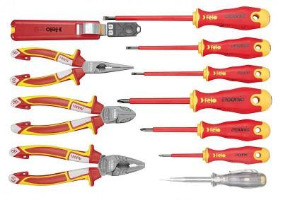 Zestaw narzędzi dla elektryka w etui VDE 1000V 11 szt. FELO (nr kat. 41391104)