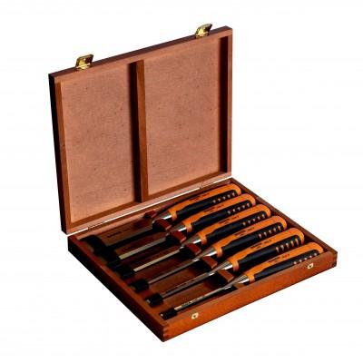 Zestaw profesjonalnych dłut do drewna 6 cz. Bahco (nr kat. 424P-S6-GER)