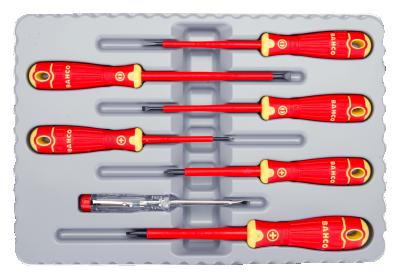 Zestaw wkrętaków izolowanych PH / PŁ 7 szt. 1000V VDE BAHCO (nr kat. B220.027)