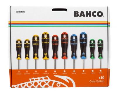 Zestaw wkrętaków z kodowaniem kolorem 10 el. Bahco (nr kat. B219.010RB)