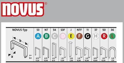 Zszywki typ A 53/18 super twarde 1000 szt. NOVUS (nr kat. NV042-0360)