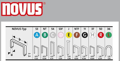 Zszywki typ A 53/4 2000 szt. NOVUS (nr kat. NV042-0354)